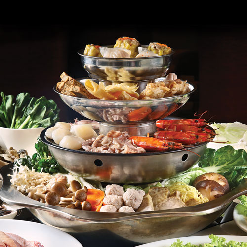 4-tier Steamboat with ingredients 火锅聚宝盆 (for 10 persons)