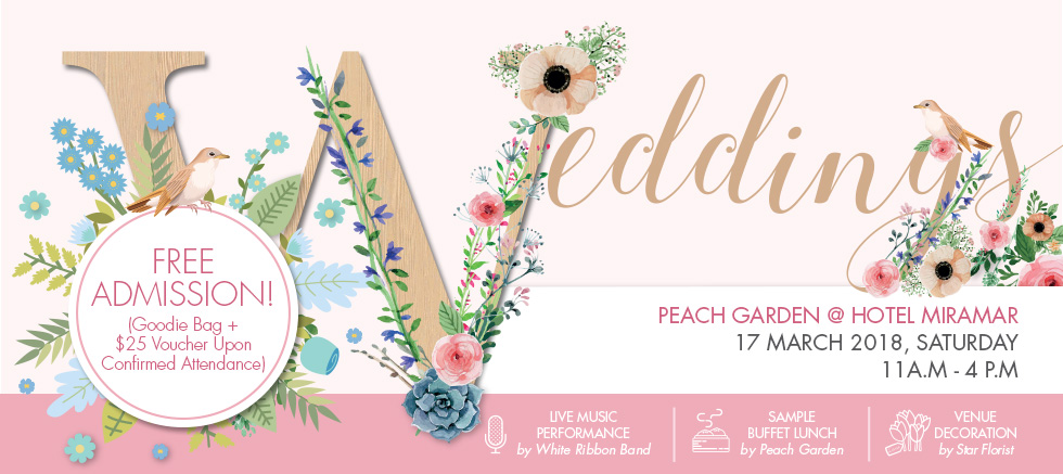 Peach Garden @ Hotel Miramar Wedding Workshop