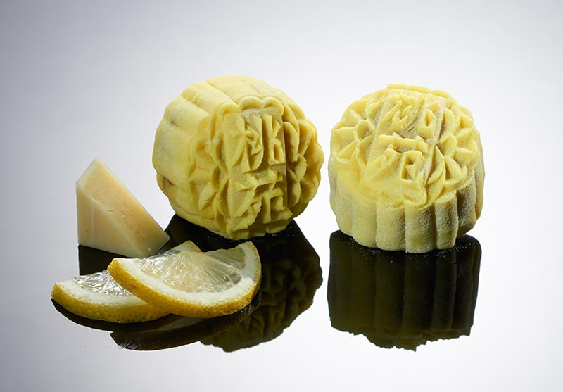 Mini Snowskin White Lotus Paste with Lemon Cheese