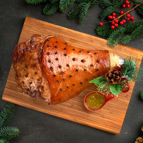 Honey-Glazed Baked Ham (Bone-In) served with Sauce (approx. 4 to 4.5kg)