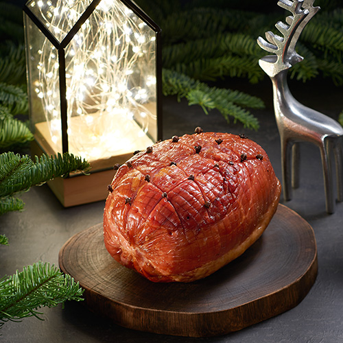 Honey-Glazed Baked Ham (Boneless) served with Sauce (approx 2 to 2.5kg)