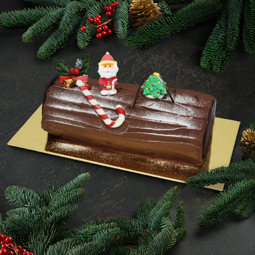 Traditional Chocolate Yule Log (1kg)