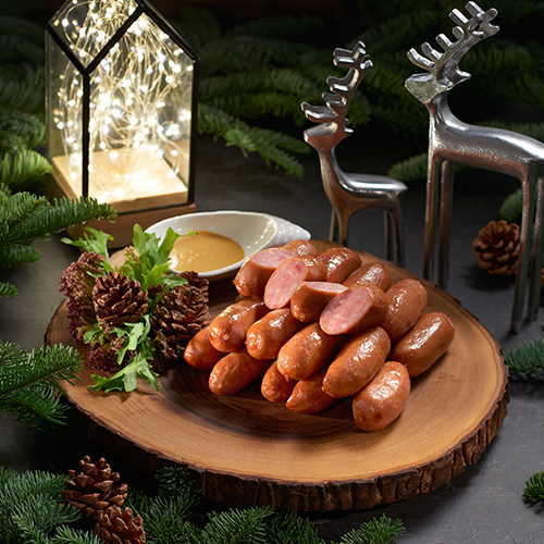 Pork Gourmet Frank Arabiki Sausages with Mustard Dip (20 pcs)